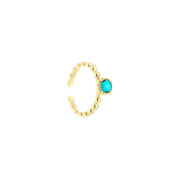 JE12885 - TURQUOISE/GOLD