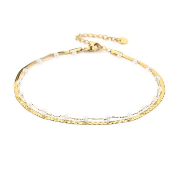 JE13460 - WHITE/GOLD