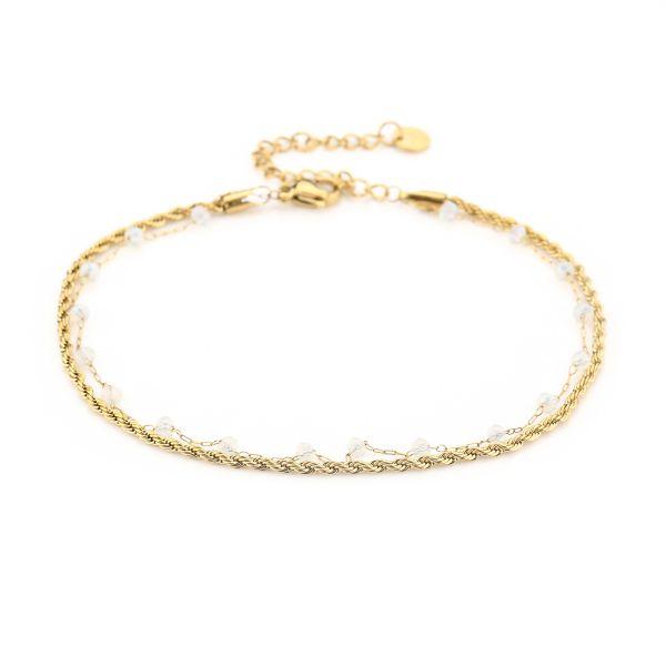 JE13462 - WHITE/GOLD