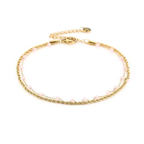 JE13462 - PINK/GOLD - Enkelbandje