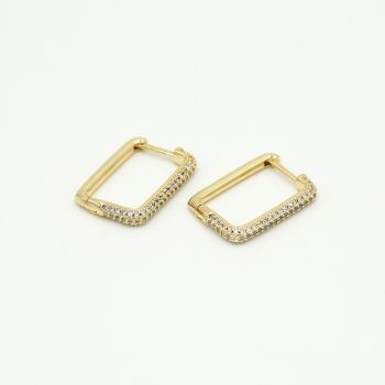 JE13143 - GOLD/WHITE - Goldplated