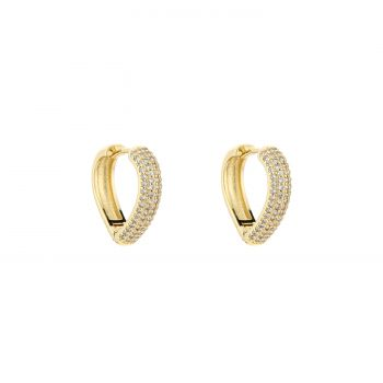 JE13145 - GOLD/WHITE- Goldplated